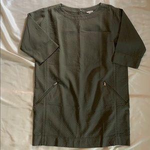 Gap Khaki Quilted Shift Dress-NWT